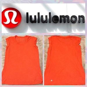 🦋 Lululemon Orange/Red Top
